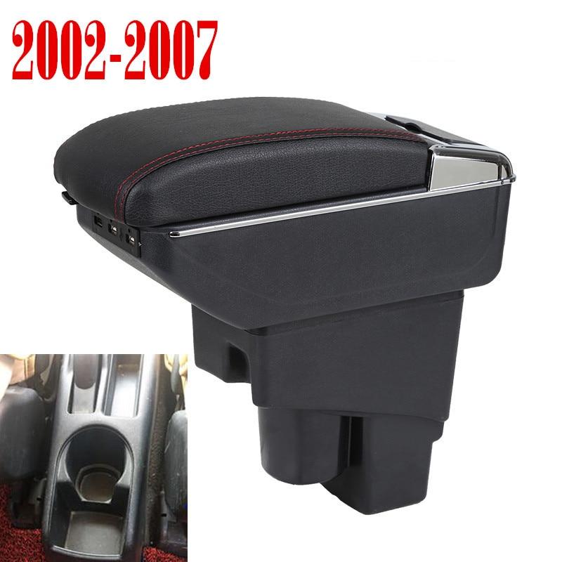 Reposabrazos giratorio para Honda Fit Jazz 2002-2007 Hatchback Centro consola caja de almacenamiento apoyabrazos 2003 2004 2005 2006 2007