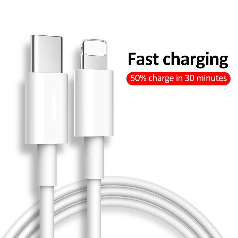 Cable de carga rápida PD de 18W, Cable USB para IPhone 11Pro XR XS Max, Cable de datos de carga rápida PD para teléfono móvil