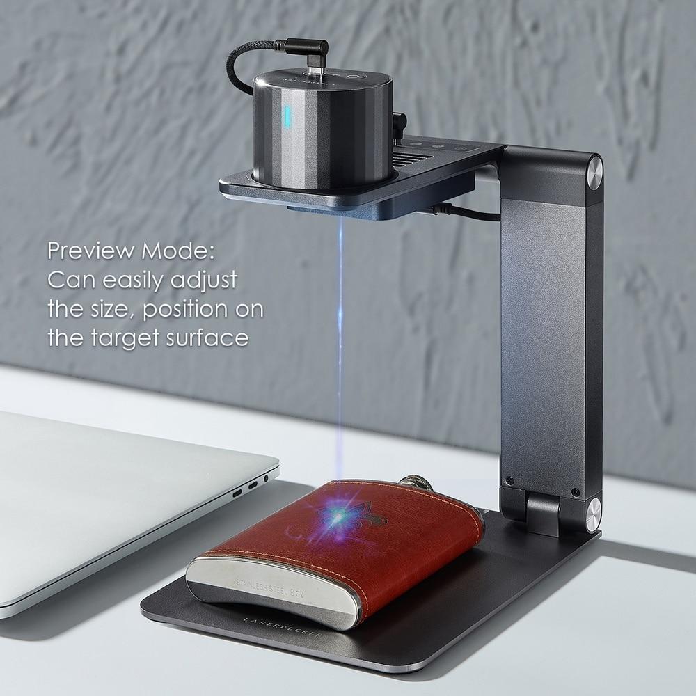 ليزر بيكر برو المهنية ليزر حفارة لتقوم بها بنفسك ثلاثية الأبعاد طابعة محمولة صغيرة ماكينة الحفر بالليزر سطح المكتب Etcher آلة قطع ونقش