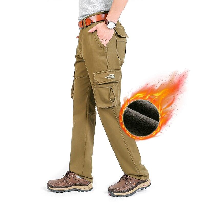 Тактические брюки-карго в стиле милитари, мужские зимние кашемировые теплые армейские водонепроницаемые износостойкие брюки, уличные повс...