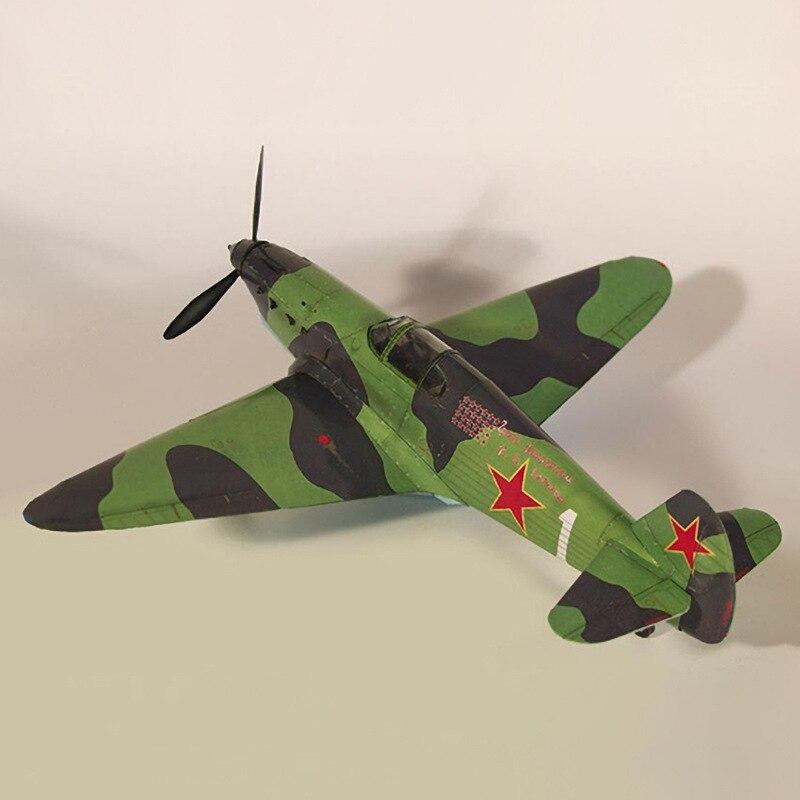 Juego de construcción de juguete de construcción de modelo de tarjeta de papel 3D DIY de un boxeador de Yak-1 de la Unión Europea 1:35