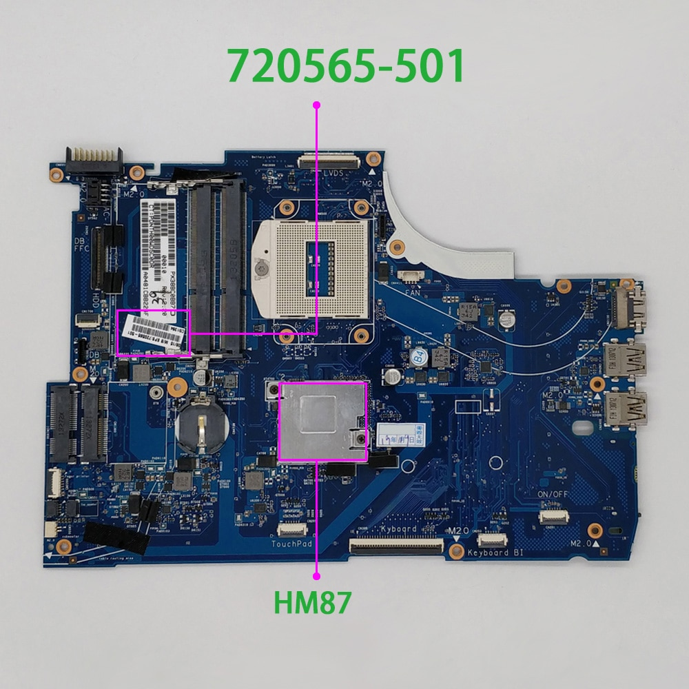 genuine 720566 501 720566 601 720566 001 w 740m 2g graphics hm87 laptop motherboard for hp 15 15 j 15t j series notebook pc 720565-501 720565-001 720565-601 for HP Envy 15 15-J Series 15T-J000 UMA HM87 DDR3 Laptop PC Motherboard Mainboard Tested