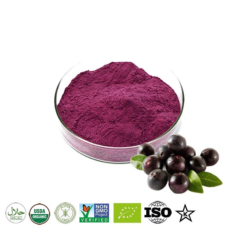 Polvo de jugo de baya de Acai natural orgánico puro, 100-1000G, salud...