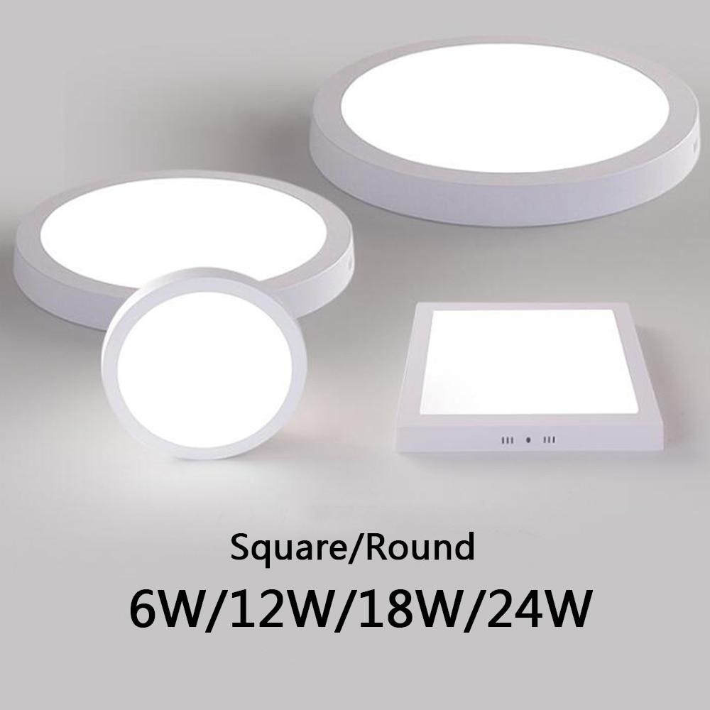 3000K/6500K Led Panel Light Ac 85-265V Ultra-Dunne 3Cm Moderne Led panel Plafond Lamp 6W 12W 18W 24W Surface Mount Painel De Led