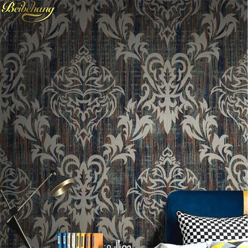 home improvement frameless poster wall papers home decor for living room bedroom wedding room wallpaper poster table walls decor beibehang custom European Damascus wallpapers for living room photo mural wall papers home decor 3D wallpaper for bedroom walls