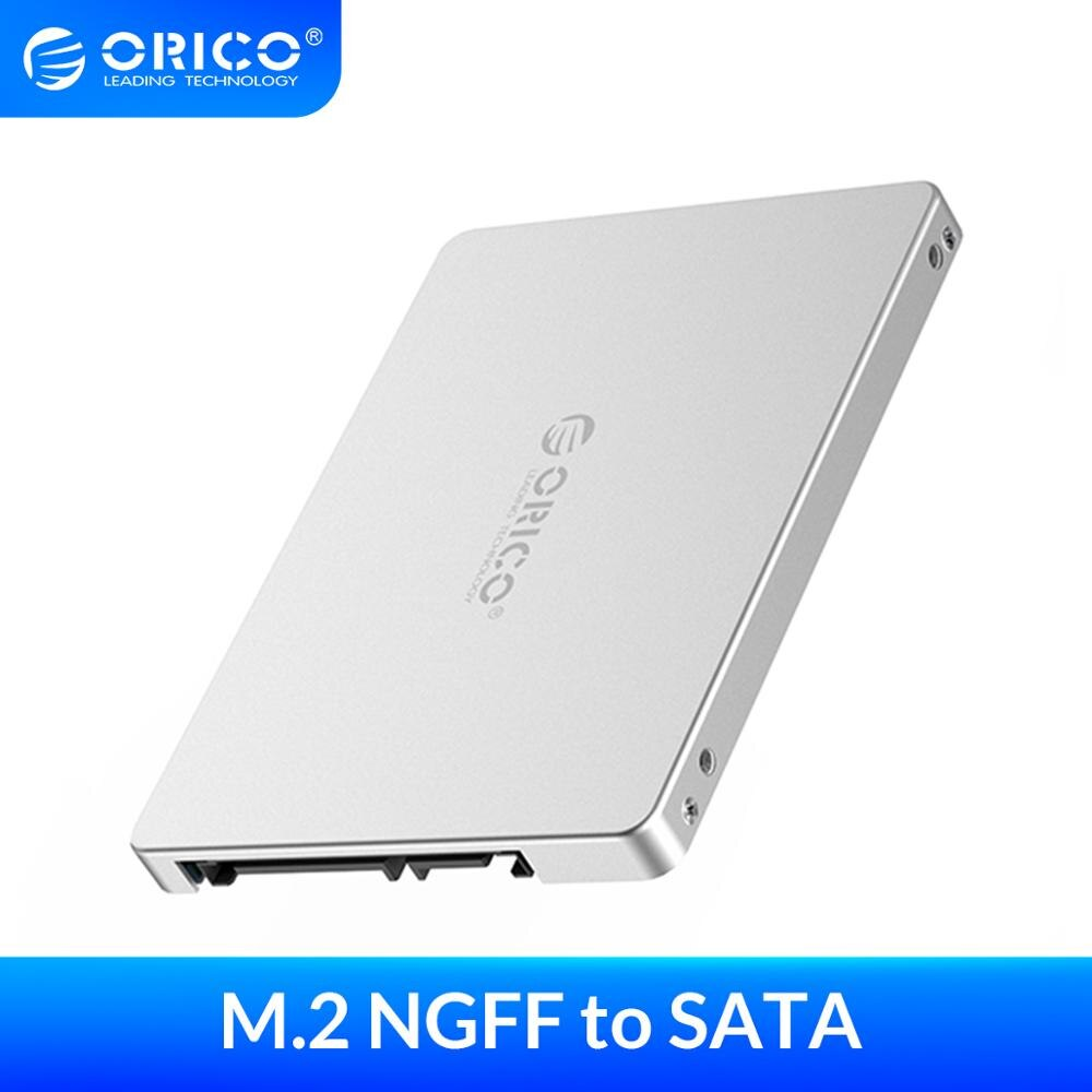 ORICO M.2 NGFF to SATA 2.5 inch HDD Case Sata 3.0 Adapter High Speed 6 Gbps Box Hard Drive Enclosure For Samsung Seagate SSD