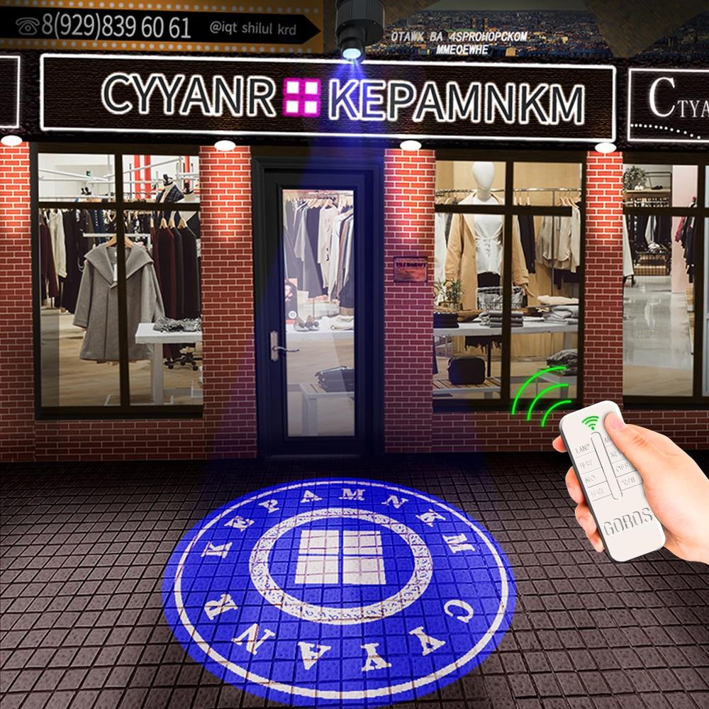 Advertising gobo projector Logo lights  Outdoor projector Ip67 Hd Rotating  Logo projector Led  logo lights Door lights недорого