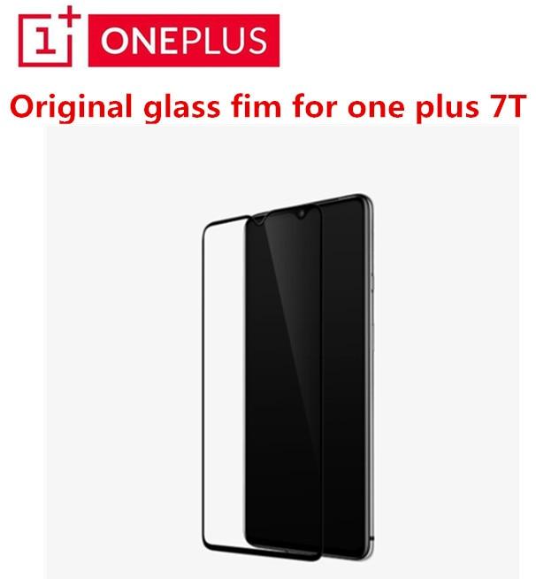 Original Oneplus 7T 3D Protector de pantalla de vidrio templado cubierta completa ajuste perfecto borde curvo cubierta completa Super duro 9H