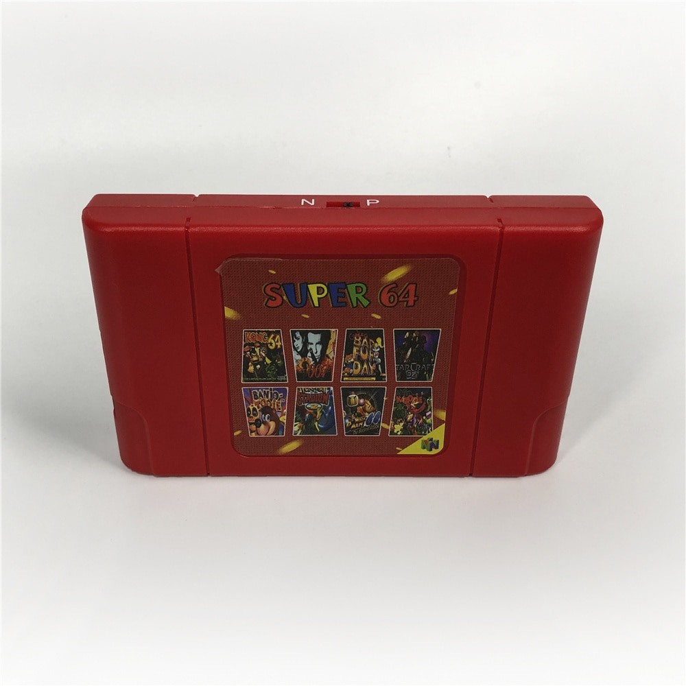 1 nuevo Super 64, Retro Tarjeta de 340 en 1 cartucho para N64 consola de Video juegos