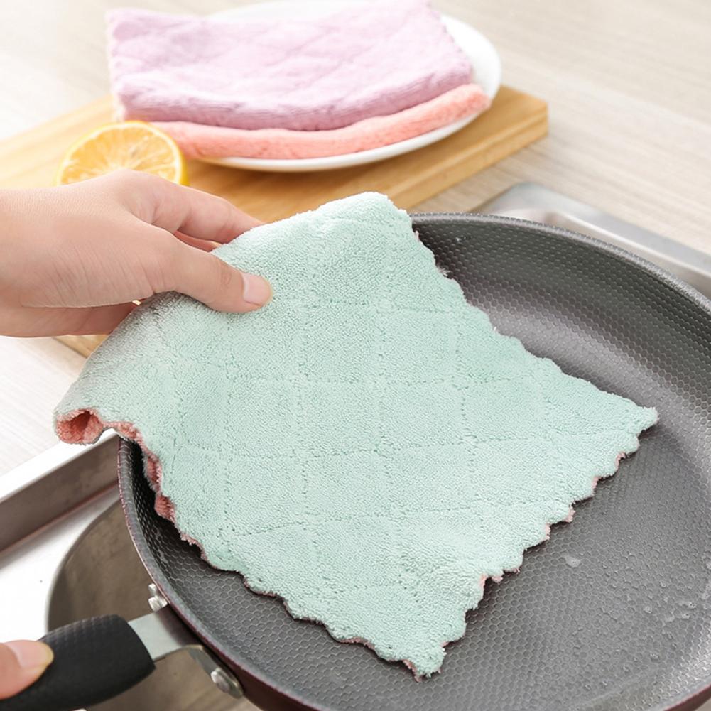 Torchon de cuisine en microfibre haute efficacité   Gadgets ménagers Super absorbants, outils de cuisine, nettoyage de la vaisselle U4M6