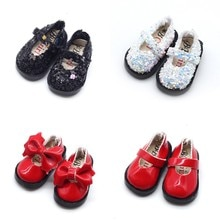 3.2cm 1/8 Doll Bowknot Shoes For Mini Leather Shoes for Doll Clothing Accessories Toys New