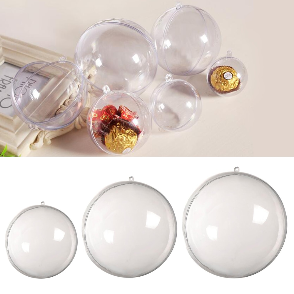christmas baubles printed skid resistant rug 1pc Clear Plastic Craft Ball Acrylic Transparent Sphere Bauble Christmas Baubles Christmas Decoration Baubles Gift 2