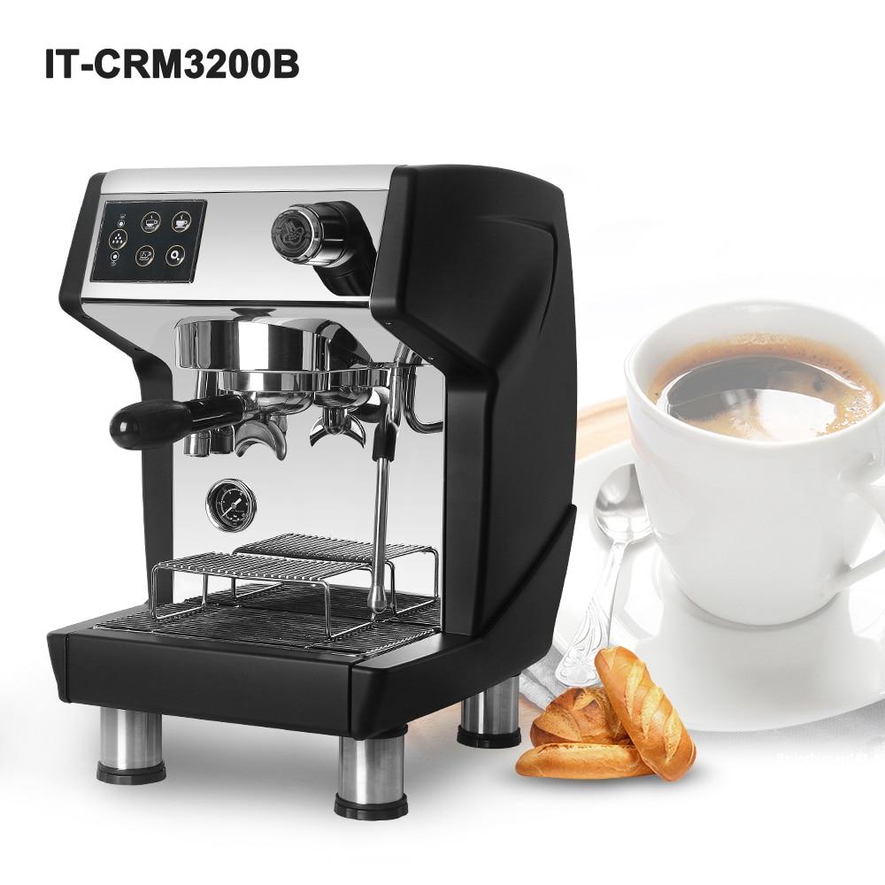 ITOP Коммерческая полуавтоматическая кофемашина, итальянская кофемашина для эспрессо, черная и красная кофемашина для кафе CRM3200B