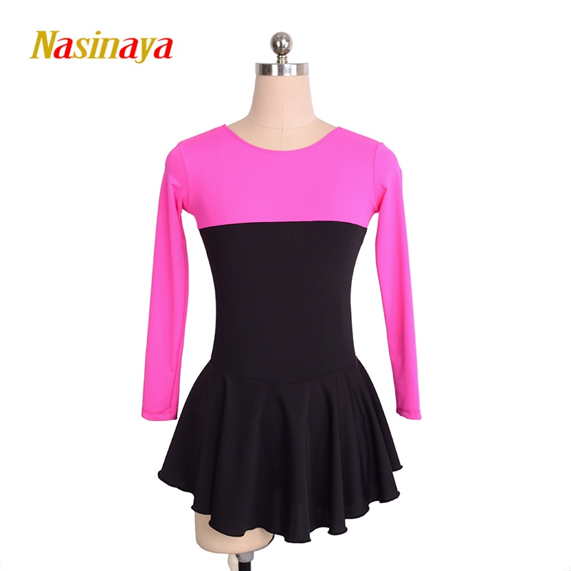 costume-figure-skating-dress-ice-skating-skirt-for-girl-women-kids-customized-competition-black-rose-red-polyamide-20-colors