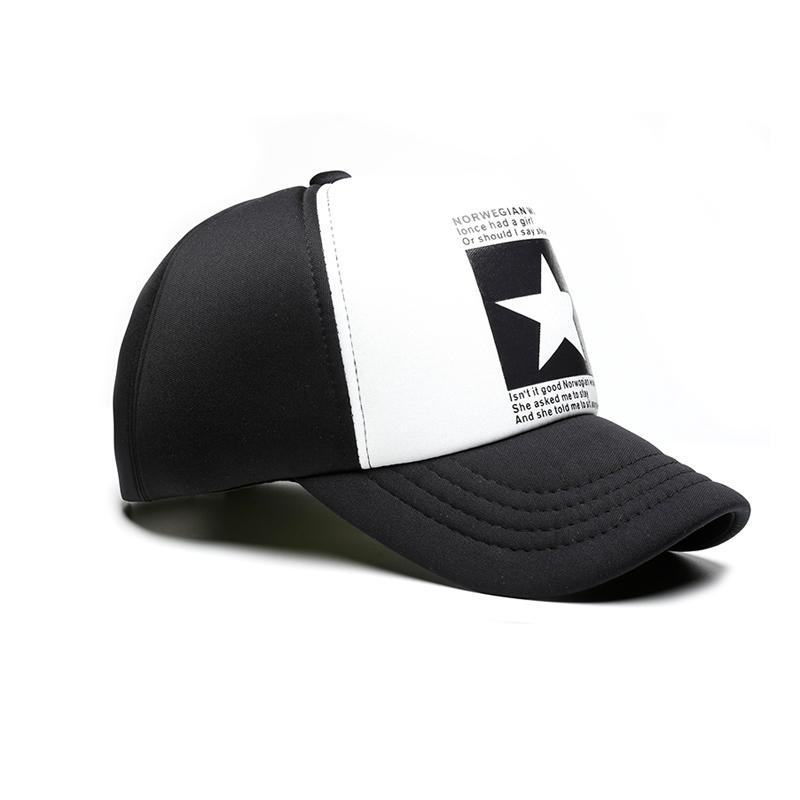 New Fashion pointed Star Brand Baseball Cap Outdoor Hat Breathable men&women Summer Mesh Sponge Baseball-caps