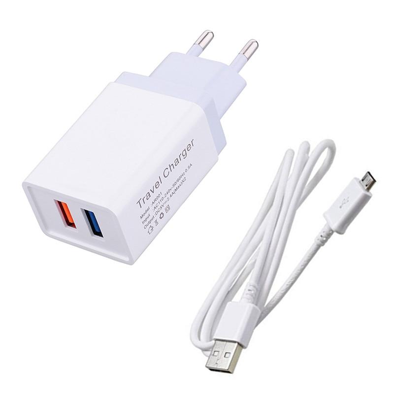 De carga Micro USB tipo C Cable para Samsung A10e A40 J7 J4 A7 A6 A5 Xiaomi Mi A3 A2 lite Redmi 7A 6 6 6 7 Oppo R15 cargador de teléfono