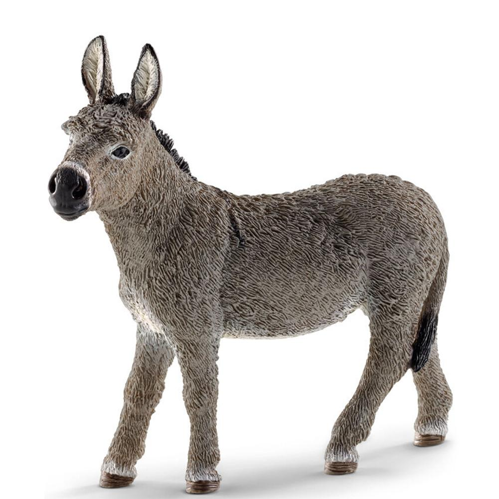 3,7 pulgadas simulación bosque salvaje burro ñu animales de plástico Mini figura modelo Juguetes