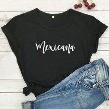 Divertida Camiseta Mexicana Latina, Camiseta de algodón de manga corta para Mujer, Camiseta negra para Mujer, Camiseta de cuello redondo para Mujer