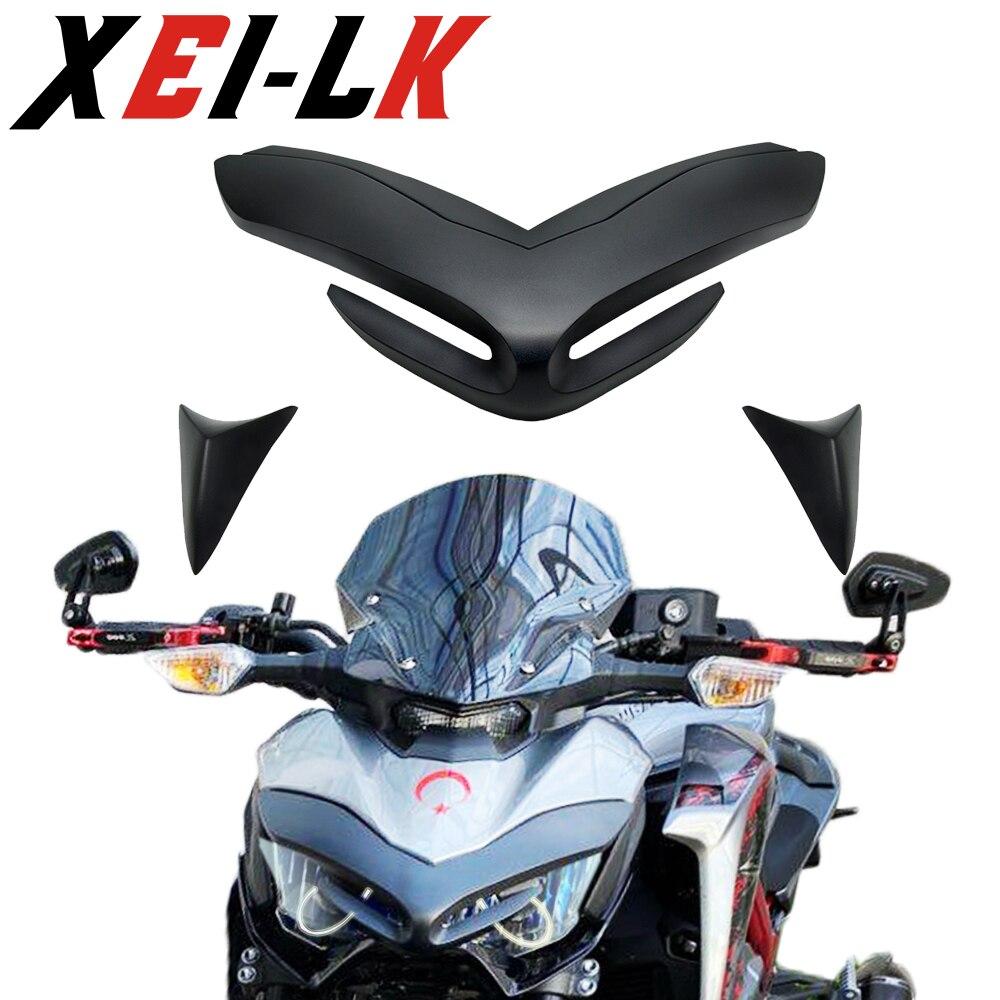 Переднее крыло мотоцикла обтекатель аэродинамические крылышки Kawasaki Z900 2017 2018 2019 2020 Beak конусный удлинитель