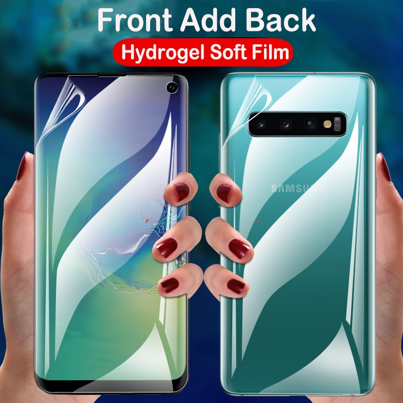 100D para Samsung Galaxy S20 S10 S9 S8 PLUS S10E Note 9 8 10 Plus Protector de pantalla completo de silicona TPU Film Hydrogel pegatina