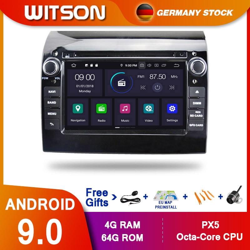 ¡DE STOCK! STITSON Android 9,0 Octa core PX5 reproductor de DVD de coche para DUCATO Citroën Jumper PEUGEOT 4GB RAM 64GB ROM GPS para coche de navegación
