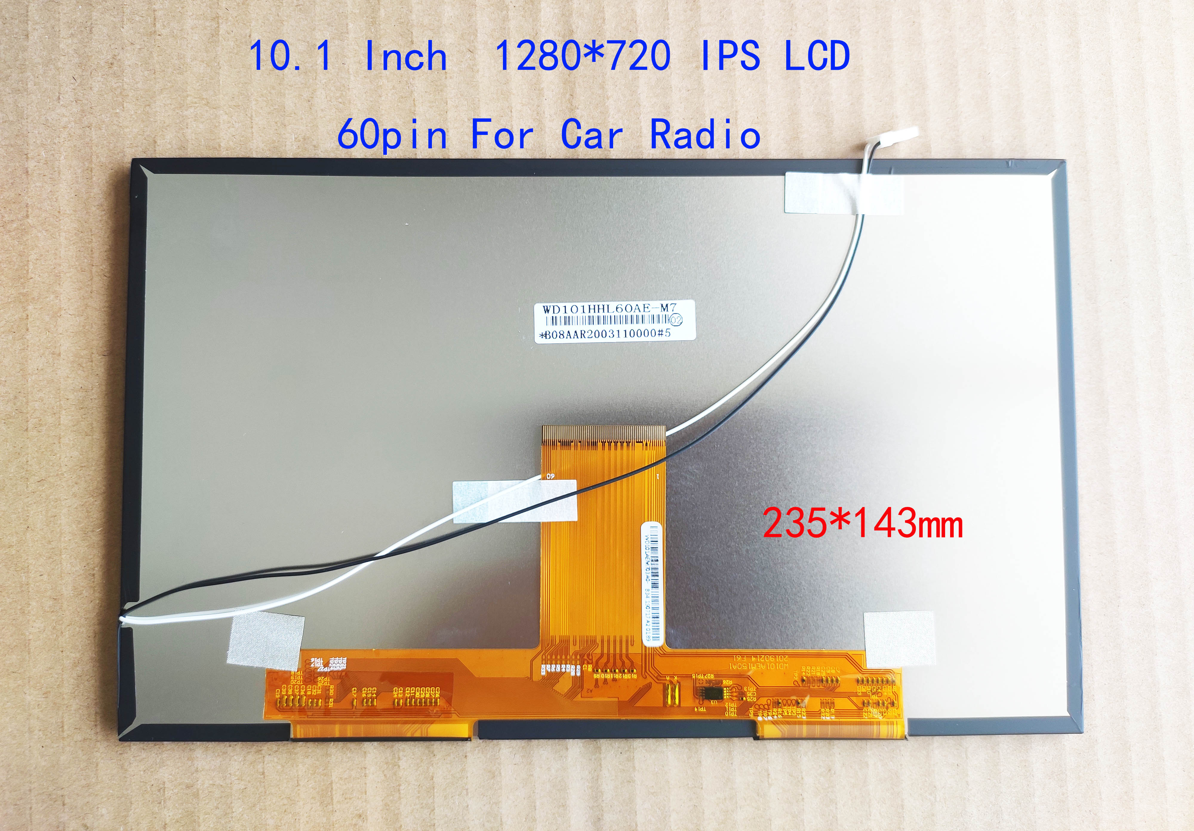 10.1 10.2 بوصة LCD 1280*720 عالية الدقة WD101HHL60A-E ل راديو السيارة CARPC شاشة ل Carplay الملاحة 235*143 مللي متر D8bit