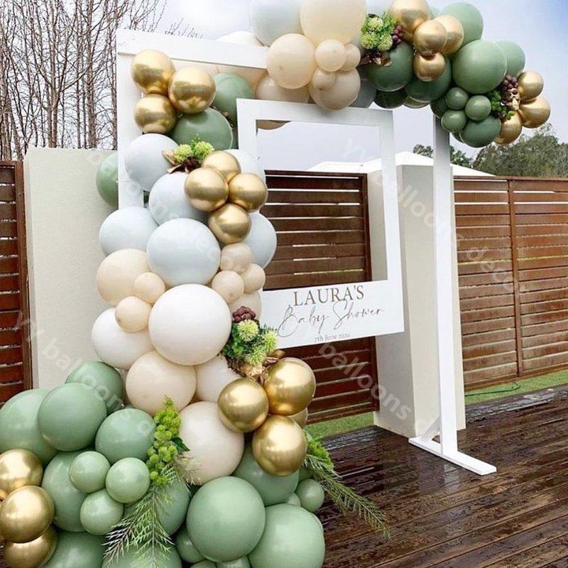 Diy Retro Green Skin Macaroon White Balloon Garland Arch Kit Wedding Party Balloons Backdrop Birthday Baby Shower Party Decor Decorative Balls Aliexpress