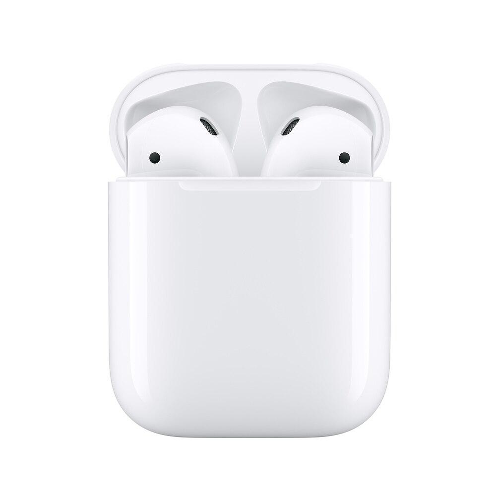 Apple AirPods 2ª con carcasa de carga auriculares inalámbricos con Bluetooth auriculares estéreo de música para iPhone 7 8 iPad Mac Watch