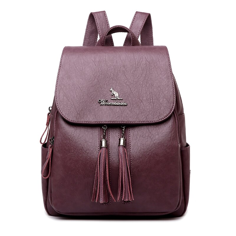 2021 New Solid Color Backpacks High Quality Casual Backpack Fashion Large Capacity Travel Backpack Female Student School Bag kujing multifunctional backpacks high quality women backpack cheap trend female student bags hot women travel casual backpack