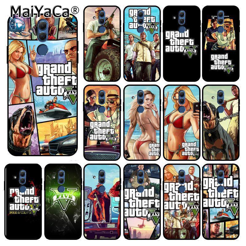 MaiYaCa rockstar gta 5 Grand Theft Phone Case for Huawei Mate 10 20 Lite 20X Mate20 10 Pro Mate9 Nova3 3i