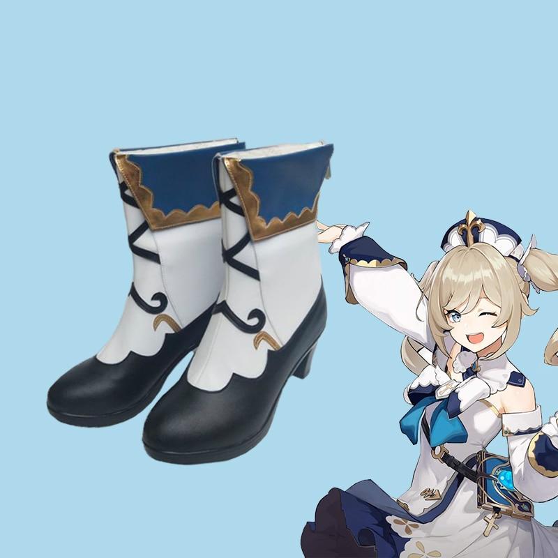 جديد أنيمي Genshin تأثير باربرا تأثيري حلي أحذية الباروكات الزي الرسمي المرأة لعبة هالوين فستان حفلة مجموعة كاملة