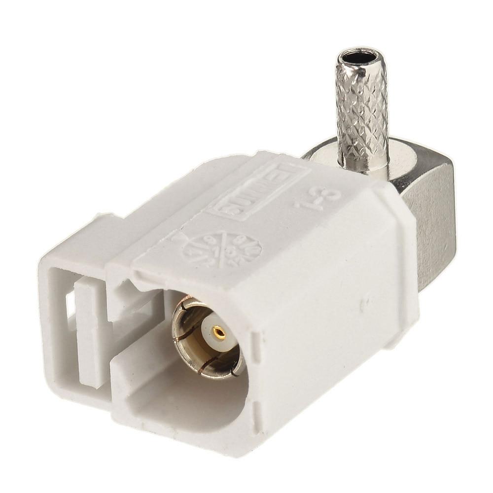सुपरफास्ट फकरा बी आयताकार रेडियो रिसीवर सफेद / 9001 जैक विथ फैंटम क्रिम्प आरएफ केबल के लिए कोएक्सिअल कनेक्टर RG316 RG174 LMR100