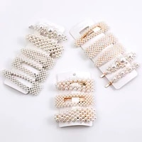 5 pieces pearl hairpin womens fashion soft pearl hairpin hair stick girl hair clip hair clip set hair accessories jewellery