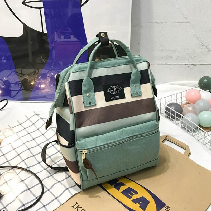 New Trend Female Backpack Fashion Canvas Women Backpack Teenage Girl School Bags Casual Classical Fe
