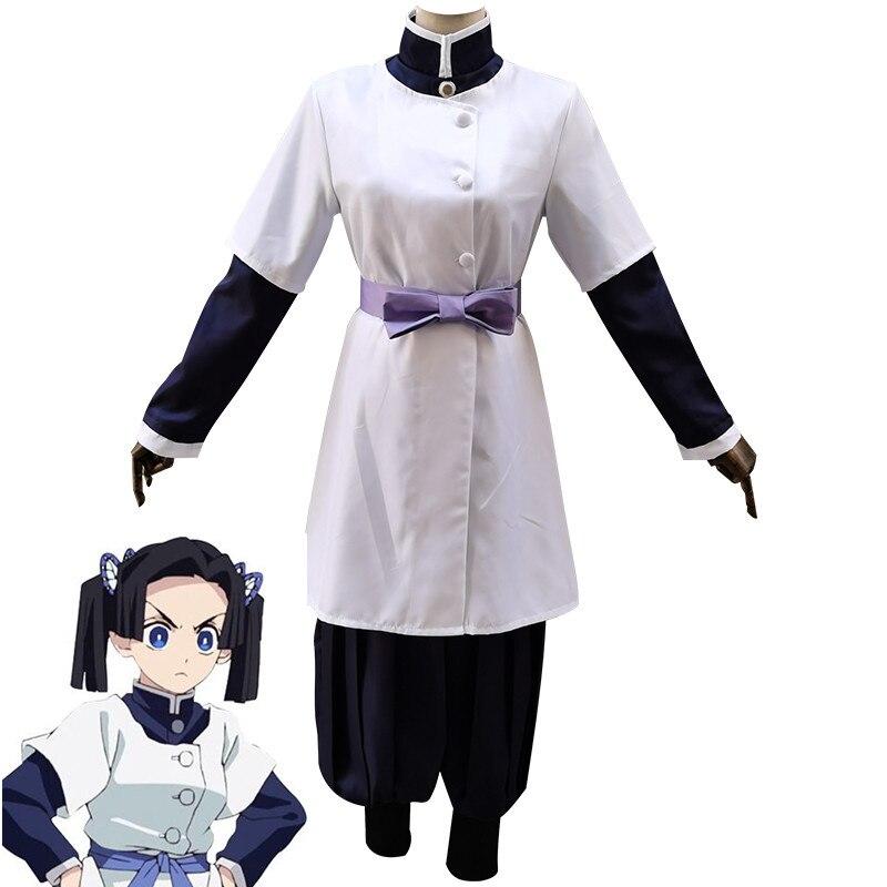 Disfraz de Anime Demon Slayer Kimetsu No Yaiba Kanzaki Aoi, disfraz de uniforme de equipo, disfraces de fiesta de Halloween para mujeres y niñas
