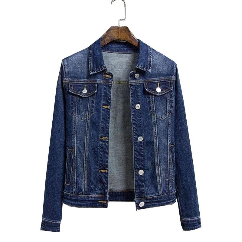 Новинка 2021, осенняя женская джинсовая куртка, свободная повседневная женская джинсовая куртка, Женская ковбойская куртка, модель 5XL