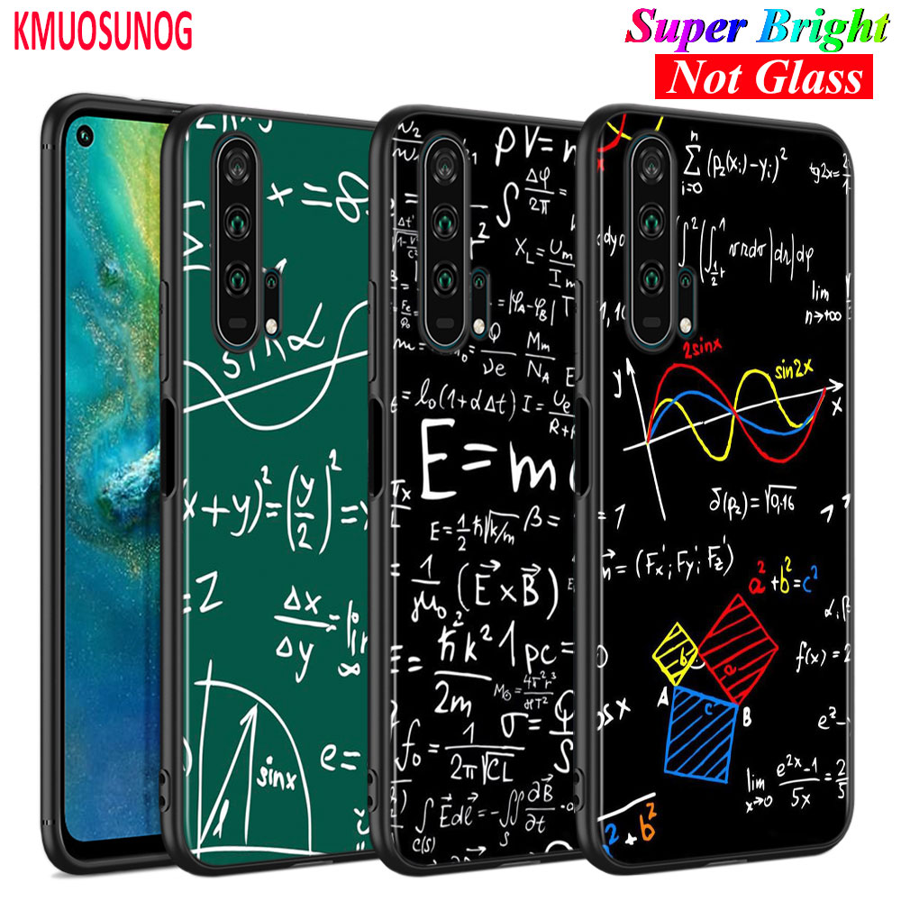 Coque Silicone noire Mc2 Math Albert Einstein pour Huawei Honor 10i 9X8X20 10 9 Lite 8 8A 7A 7C Pro Lite coque de téléphone