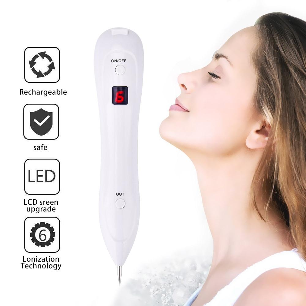 Skin Acne Laser Pointer Tattoo Freckle Removal Pen LCD Sweep Spot Mole Wart Corns Dark Spot Remover Salon Beauty Machine