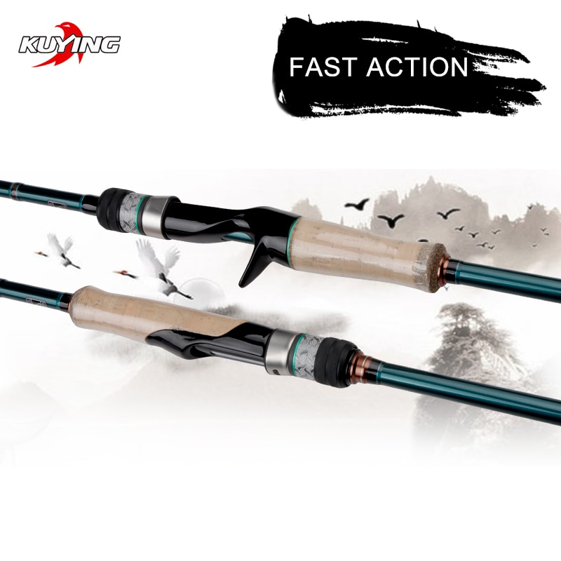 kuying o sprey 2 9m 3m shore jigging rods spinning lure fishing rod pole hard 2 sections carbon fiber fuji parts fast action KUYING BATTLE SONG 1.9m 1.95m 1.98m 2.04m 2.05m Spinning Casting Fishing Lure Rod Stick Cane FUJI Parts Light FAST Action