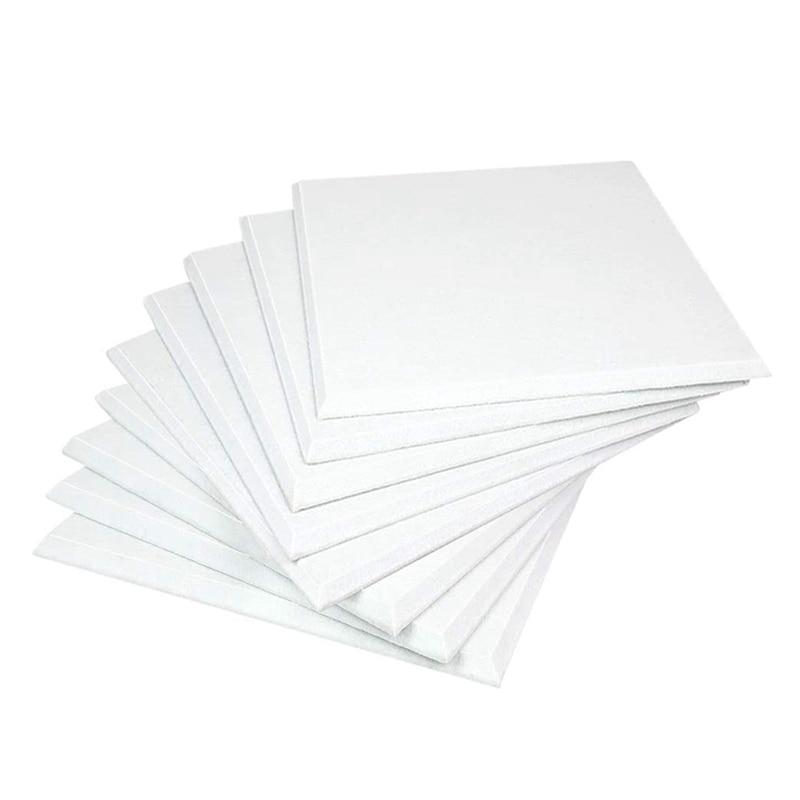 لوحات صوتية بيضاء 12 قطعة عالية الكثافة مشطوف حافة لتزيين الجدران والعلاج الصوتية CNIM Hot