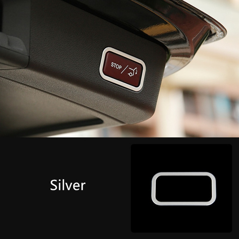 Car Tail Trunk Button Frame Decoration Cover Trim For Mercedes Benz R Class W251 R320 350 400 2010-2018 Aluminium Alloy