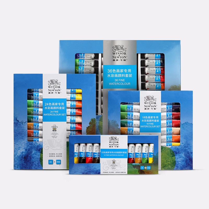 paul rubens 12 24 48 watercolor paint set with metal case solid artist water color painting pigment for drawing art supplies 12/18/24/36 Color 10ml Tubes Professional Watercolor Paint Premium Water Color Pigment For Artist Painting Drawing Art Supplies