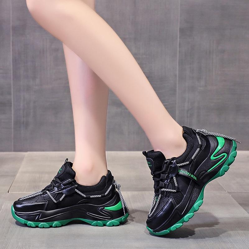 Zapatillas De deporte De diseñador para Mujer, zapatos gruesos informales a la...