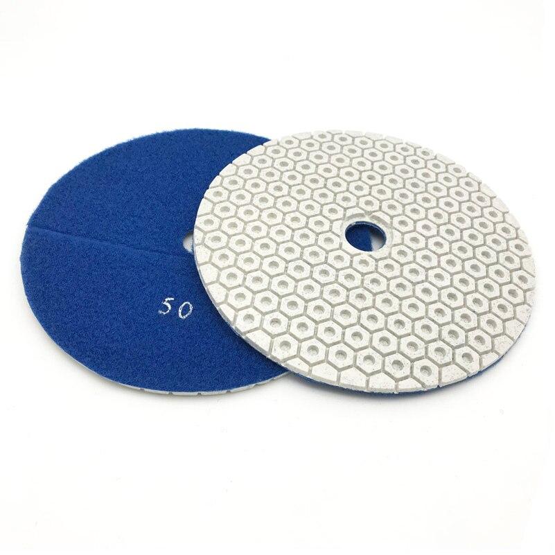 Almofadas de Polimento Molhadas do Diamante Conjunto para o Mármore Concreto do Granito Polegada Pces 7 180mm um