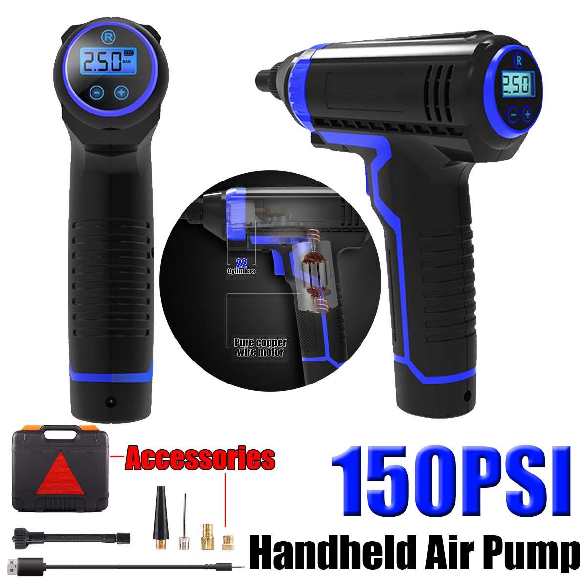 12v protable compressor de ar do carro sem fio handheld novo pneu inflator carregamento usb bomba inflator ar elétrico para motocicletas carros