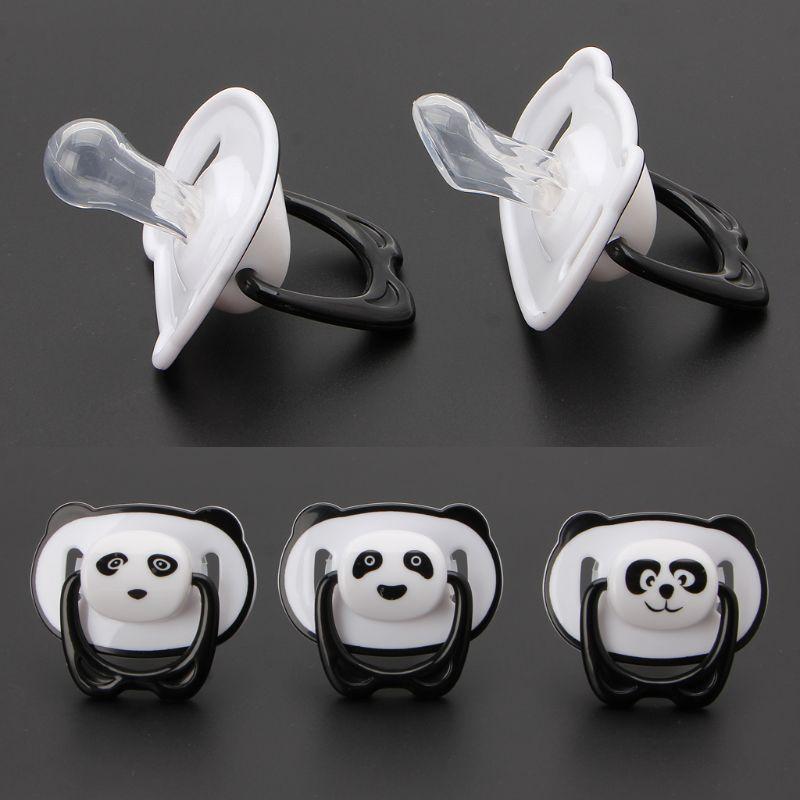 Пустышка-пустышка в виде панды, детское питание, Ортодонтические соски для малышей с кольцом, Прорезыватель для зубов, Детская соска