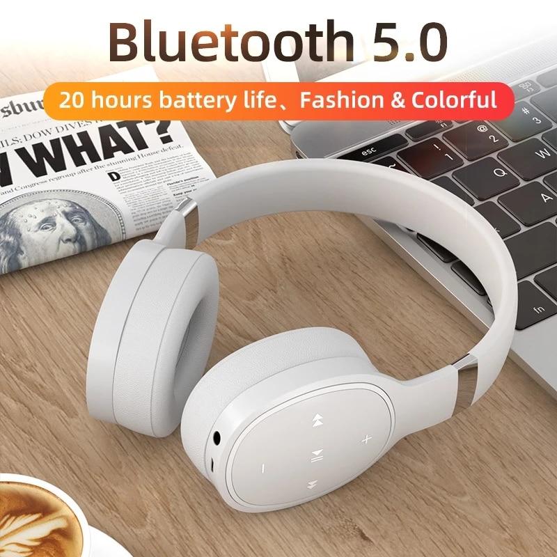VJ087-auriculares inalámbricos con Bluetooth 5,0, dispositivo de audio estéreo, HIFI, con micrófono,...