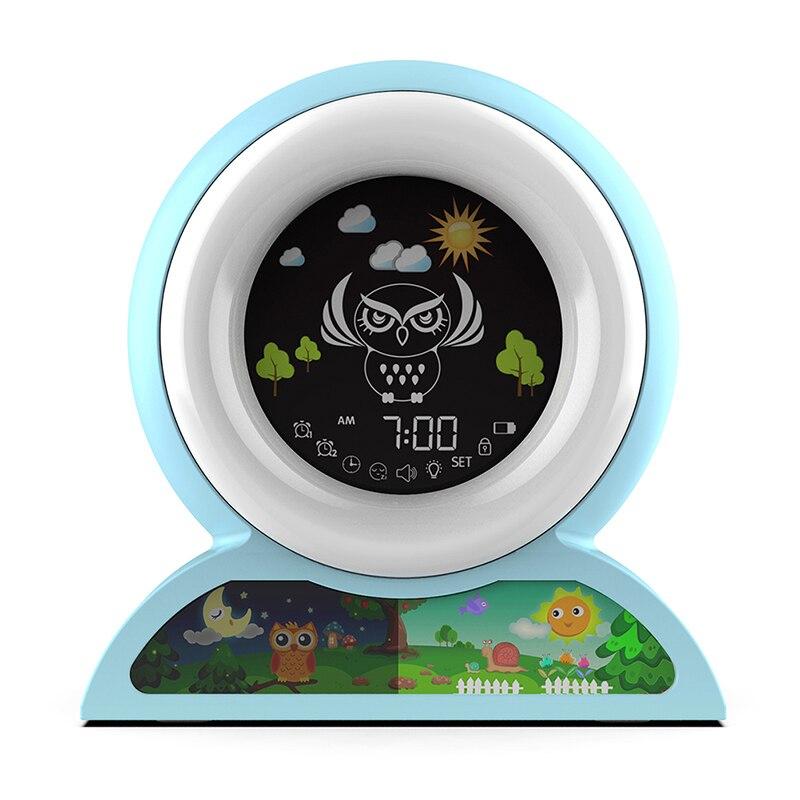 USB شحن ساعة تنبيه ذكي ضوء الليل التحكم باللمس ساعات مكتب عيد ميلاد الطفل الحاضر مكتب السرير الأطفال ساعة تنبيه
