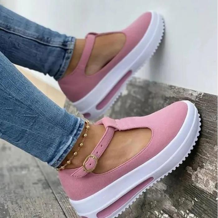 2021 femmes Chaussures D'été Sandales Épaisses Bas Plate-forme Chaussures Dames Sandales À Talons Compensés Boucle Sangle Décontracté Chaussures Femme
