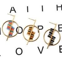 fairywoo fashion bead earrings for women 2019 statement bohemian copper boucle doreille luxury jewelry round pendientes largos